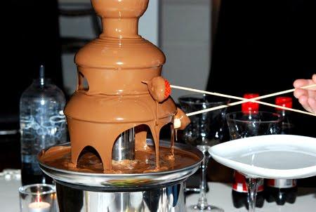 chokladfontän recept olja